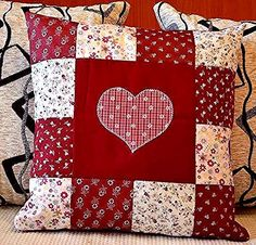 ideas sewing pillows patchwork ideas A cover – that incorporates a little scrub major Sewing Pillows, Diy Pillows, Decorative Pillows, Throw Pillows, Patchwork Cushion, Quilted Pillow, Quilting Projects, Sewing Projects, Fabric Crafts