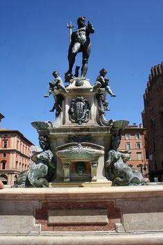 The Fountain of Neptune (Fontana di Nettuno) Bologna, Italy