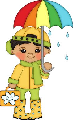 Summer Fun For Kids, Art For Kids, Rainy Day Images, Cute Clipart, Rain Clipart, Baby Frame, How To Make Toys, Country Paintings, Punch Art