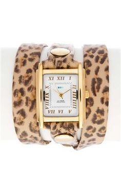Chic leopard print watch! Available at Vanessa V Boutique.