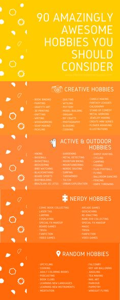 Trying to boost happiness? Try some of these hilarious, fun, and productive hobbies! (Hobbies To Try For Teens) for teens Post Grad Guide To Survival - A List of Hobbies (Because You Need Some Gosh Darn It)