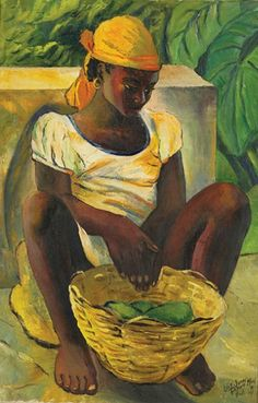 Peasant Girl, Haiti  1954 by Lois Mailou Jones: Artist who painted and influenced others during the Harlem Renaissance and beyond, during her long teaching and artistic career. ~Repinned Via Socorro Matos