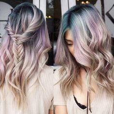 Not only do colorful roots cover pesky grays, grown-out hair color and make a serious statement, but they're a subtle transition into rainbow hair color — and they're just really pretty to look at.