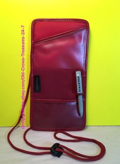 Vintage Travelon Red Boarding Pass / Passport Holder #Travelon