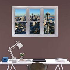Fathead Seattle Skyline Scenic Window Wall Decal - 69-00428