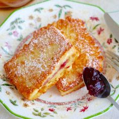 Toast with jam Old Recipes, Cooking Recipes, Breakfast Recipes, Dessert Recipes, Polish Recipes, Polish Food, Magic Recipe, Food To Make, Sweet Tooth