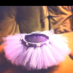This is a tutu I made for my little sister. All you need is elastic, a needle with thread, about 40 yards of tulle, and embellishments.