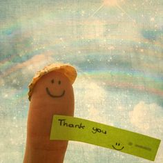 Finger says thank you