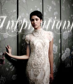 Kebaya inspired wedding dress...the detail is simply stunning