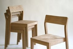 Custom Made Stackable Wood Dining Chair