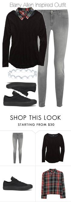 """Arrow/The Flash - Barry Allen Inspired Outfit"" by staystronng ❤ liked on Polyvore featuring 7 For All Mankind, Aerie, Converse, MANGO, BERRICLE, theflash and barryallen"