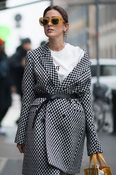 black and white checkered blazer