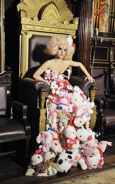 Lady Gaga in Hello Kitty dress
