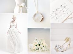 All White Wedding Inspiration Board