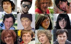 the faces of Chris Lilley Funny People, Funny Things, Funny Stuff, Summer Heights High, Chris Lilley, Many Faces, Movies Showing, Best Memes, Quote Finder