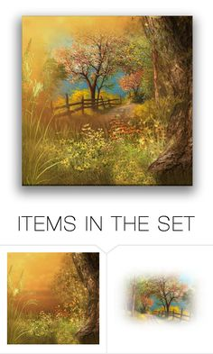 """Autumn Country"" by erina-i ❤ liked on Polyvore featuring art and country"