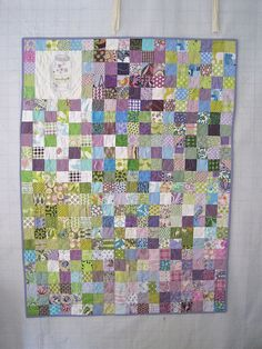 love the colors on this quilt.  Nothing better than patchwork for me!