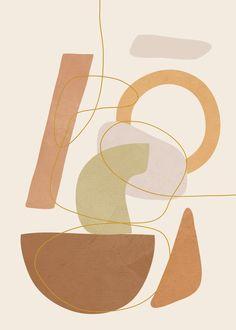 Abstract Modern Art 17 Art Print by City Art - X-Small Tan Wallpaper, Simple Iphone Wallpaper, Wallpaper Stickers, Iphone Wallpaper Tumblr Aesthetic, Aesthetic Wallpapers, Cute Patterns Wallpaper, Background Patterns, Arte Pop, City Art
