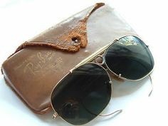 Authentic Ray-Ban Aviator Shooter Sunglasses Vintage Gold Filled w/ Bakelite Brow Bridge Collectible Sunglass Raybans Ray-Bans Forgotten Treasures, Crown Jewels, Artisan Jewelry, Aviation, Ray Bans, Vintage Jewelry, Fashion Jewelry, Brow, Sunglasses