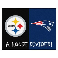 Pittsburgh Steelers/New England Patriots NFL House Divided All Star Fl