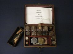 Family Traveling Medicine Kit Late 1800s