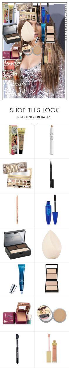 """Jennifer Lopez Makeup Tutorial |"" by oroartye-1 on Polyvore featuring beauty, Jennifer Lopez, TheBalm, NYX, Rodial, Maybelline, Urban Decay, Christian Dior, Lancôme and Sisley"