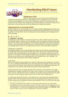 RALFI lezen: hoe gaat dat precies in zijn werk? -Volledig herschreven versie 2, maart 2014