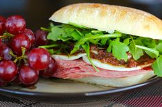 This Italian Sandwich with Olive Tapenade has such an amazing flavor and is a nice break from the traditional sandwich. Try this for lunch this week. Sandwiches For Lunch, Soup And Sandwich, Wrap Sandwiches, Sandwich Recipes, Italian Sandwiches, Lunch Recipes, Yummy Recipes, Dinner Recipes, Yummy Food
