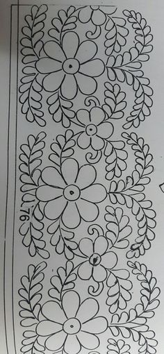 Hand Embroidery Design Patterns, Sewing Machine Embroidery, Embroidery Flowers Pattern, Beaded Embroidery, Flower Patterns, Embroidery Stitches, Glass Painting Designs, Paint Designs, Mexican Embroidery