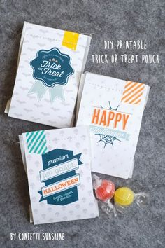 Confetti Sunshine: Halloween Free Printable Trick or Treat Bags
