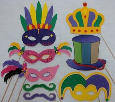 Printable Photo booth props!!! Mardi Gras