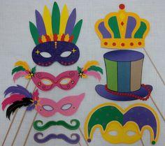 Printable Photo booth props!!! Mardi Gras