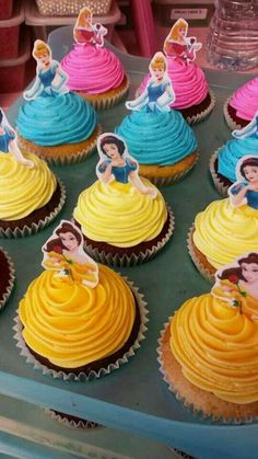 Throwing a Disney Princess party without spending weeks in the kitchen. Planning a Disney Princess party doesn't have to be as painful as kissing a frog. We have everything you need in one place to throw a Disney Princess party. Disney Princess Birthday Party, Disney Princess Party, Easy Princess Cake, Disney Themed Party, Princess Party Cupcakes, Disney Princess Decorations, Princess Cupcake Toppers, Princess Themed Food, Princess Belle Cake