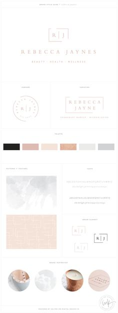 Rebecca Jaynes Beauty Salon Brand Design by Salted Ink | Salon Branding | Brand Design and Website Design | View the full brand transformation at www.saltedink.com |