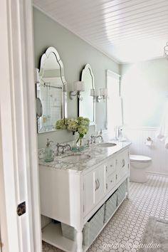 Review of DIY master bathroom 2 years later-www.goldenboysandme.com