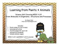 Science Unit Covering NGSS 1-LS1: Learning From Plants and