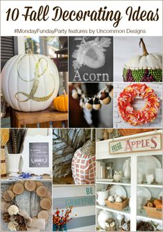 10 Fall Decorating Ideas for the home, indoors and outdoors! www.settingforfour.com