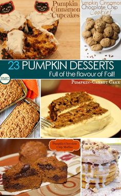 Oh these pumpkin desserts look absolutely delicious! So many new recipes to try - click on the image to see them all!