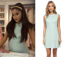 5f8d728c77e4 Scream Queens  Season 1 Episode 1 Chanel  2 s Green Tweed Dress Scream  Queens Chanel
