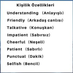 English Time, Learn English Words, English Lessons, English Sentences, English Vocabulary Words, English Grammar, Turkish Lessons, Learn Turkish Language, English Language Learning