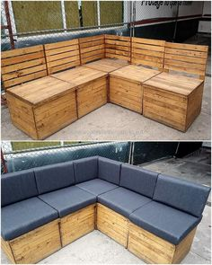 recycled pallet couch plan