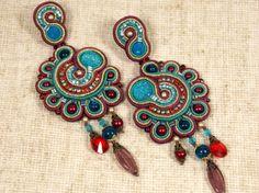 Long Soutache Earrings by BRSimplicity on Etsy, €60.00