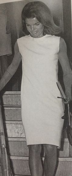 "Arriving in NYC in 1964 wearing ""mourning white"" in the European tradition."