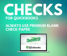 Checks For QuickBooks - Print Yourself On Demand on any Printer Save $