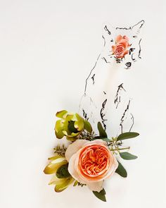 Fox and Flower No. 9888 van kariherer op Etsy, $30.00