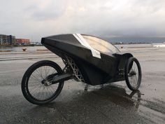Full Carbonfiber, Electric assisted velomobile prototype. Electric Vehicle
