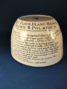 Real country house kitchen    Antique Earthenware Blancmange Or Jelly Mould by thevintagearcade, $83.00