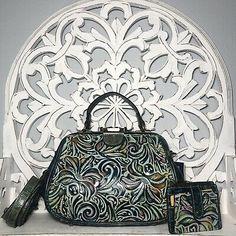 Patricia Nash Gracchi Satchel & Cassis Wallet Turquoise Multi Tooled Leather | eBay Tooled Leather, Leather Tooling, Patricia Nash, Crossbody Wallet, Tote Handbags, Fashion Backpack, Satchel, Turquoise, Tote Bag