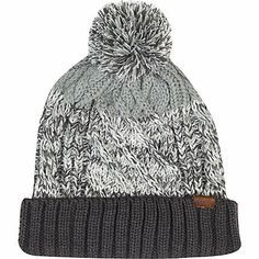 Grey cable knit colour block beanie hat #riverisland #rimenswear