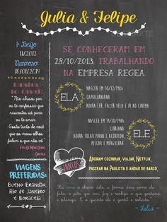 Chalkboard Namorados - Pôster A3 ou A4 Chalkboard a partir de R$45,00! em www.elo7.com.br/ Casamento, chá de bebê, namorados, noivado, infantil decoração e muito mais!